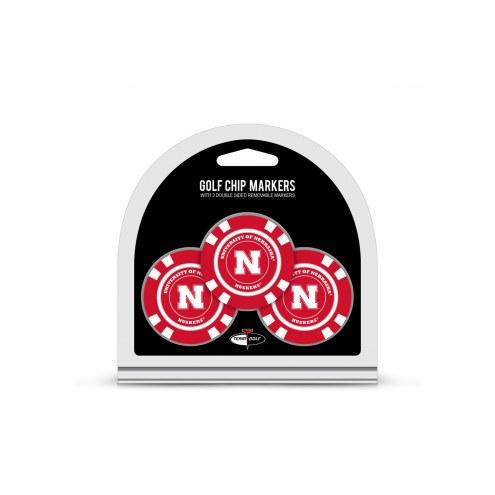 Nebraska Cornhuskers Golf Chip Ball Markers