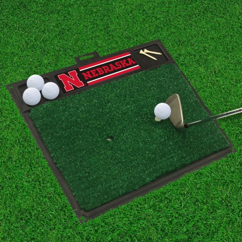 Nebraska Cornhuskers Golf Hitting Mat