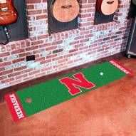 Nebraska Cornhuskers Golf Putting Green Mat