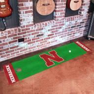 Nebraska Cornhuskers Golf Putting Green Mat