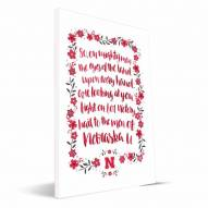 Nebraska Cornhuskers Hand-Painted Song Canvas Print