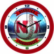 Nebraska Cornhuskers Home Run Wall Clock