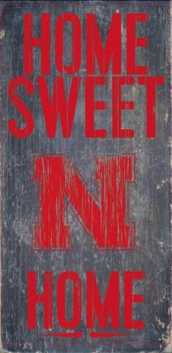 Nebraska Cornhuskers Home Sweet Home Wood Sign