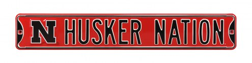 Nebraska Cornhuskers 'Husker Nation' NCAA Embossed Street Sign