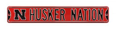 Nebraska Cornhuskers 'Husker Nation' NCAA Embossed Street Sign