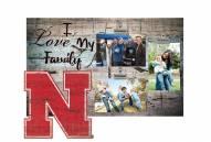Nebraska Cornhuskers I Love My Family Clip Frame