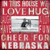 """Nebraska Cornhuskers In This House 10"""" x 10"""" Picture Frame"""