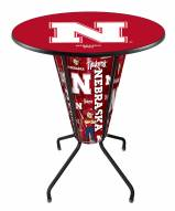 Nebraska Cornhuskers Indoor Lighted Pub Table