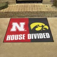 Nebraska Cornhuskers/Iowa Hawkeyes House Divided Mat