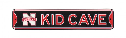 Nebraska Cornhuskers Kid Cave Street Sign