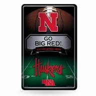 Nebraska Cornhuskers Large Embossed Metal Wall Sign