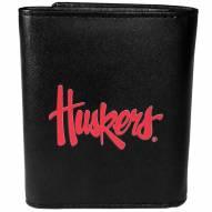 Nebraska Cornhuskers Large Logo Leather Tri-fold Wallet