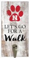 Nebraska Cornhuskers Leash Holder Sign