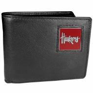 Nebraska Cornhuskers Leather Bi-fold Wallet in Gift Box