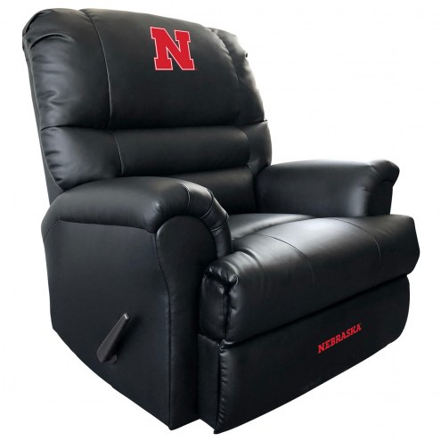 Nebraska Cornhuskers Leather Sports Recliner