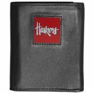 Nebraska Cornhuskers Leather Tri-fold Wallet