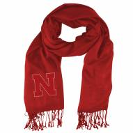 Nebraska Cornhuskers Light Red Pashi Fan Scarf