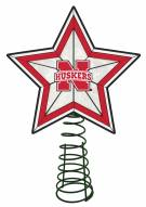 Nebraska Cornhuskers Light Up Art Glass Tree Topper