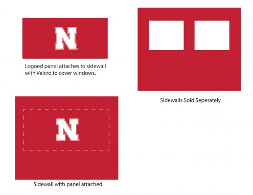 Nebraska Cornhuskers Logo Canopy Sidewall Panel (Attaches to Window Sidewall)