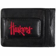 Nebraska Cornhuskers Logo Leather Cash and Cardholder