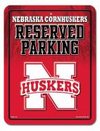 Nebraska Cornhuskers Metal Parking Sign