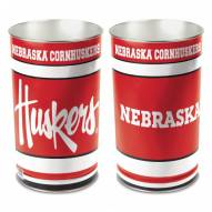 Nebraska Cornhuskers Metal Wastebasket