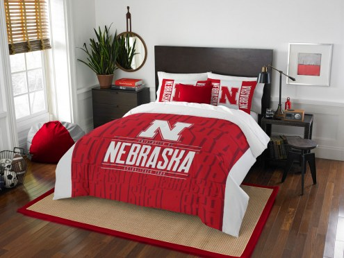 Nebraska Cornhuskers Modern Take Full/Queen Comforter Set