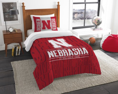 Nebraska Cornhuskers Modern Take Twin Comforter Set