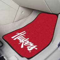Nebraska Cornhuskers NCAA 2-Piece Carpet Car Mats