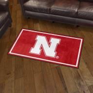 Nebraska Cornhuskers 3' x 5' Area Rug