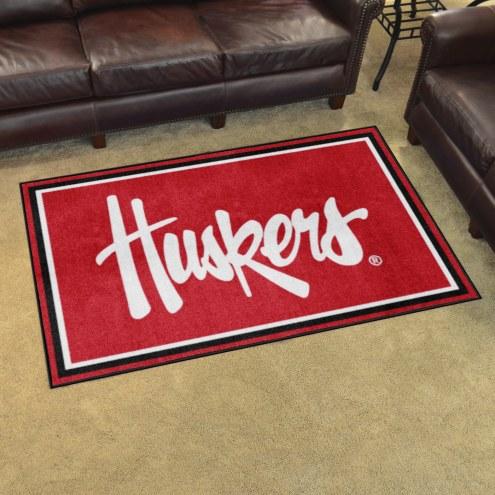 Nebraska Cornhuskers NCAA 4' x 6' Area Rug