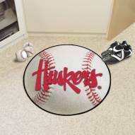 Nebraska Cornhuskers NCAA Baseball Rug