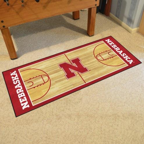 Nebraska Cornhuskers NCAA Basketball Court Runner Rug