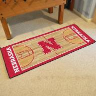 Nebraska Cornhuskers NCAA Basketball Court Runner Rug