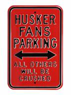 Nebraska Cornhuskers NCAA Embossed Parking Sign