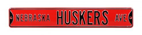 Nebraska Cornhuskers NCAA Embossed Street Sign