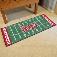 Nebraska Cornhuskers NCAA Football Field Runner Rug