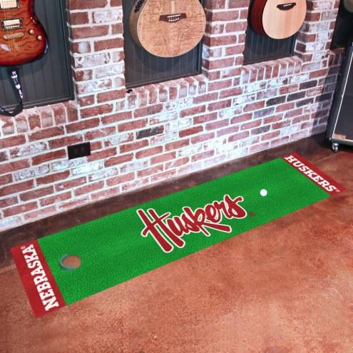 Nebraska Cornhuskers NCAA Golf Putting Green Mat