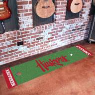 Nebraska Cornhuskers NCAA Golf Putting Green Mat
