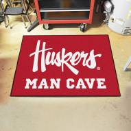 Nebraska Cornhuskers NCAA Man Cave All-Star Rug