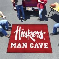 Nebraska Cornhuskers NCAA Man Cave Tailgate Mat