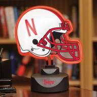 Nebraska Cornhuskers Neon Helmet Desk Lamp