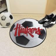 Nebraska Cornhuskers NCAA Soccer Ball Mat