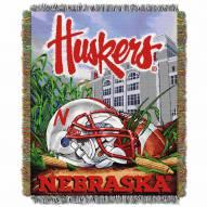 Nebraska Cornhuskers NCAA Woven Tapestry Throw / Blanket