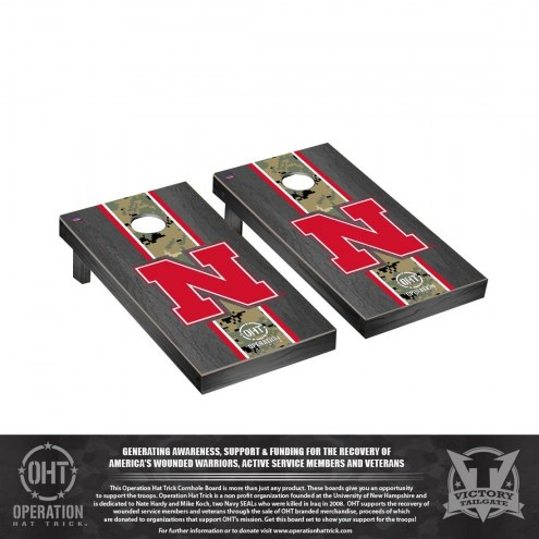Nebraska Cornhuskers Operation Hat Trick Stained Cornhole Game Set
