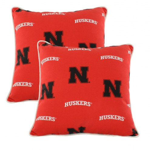 Nebraska Cornhuskers Outdoor Decorative Pillow Set