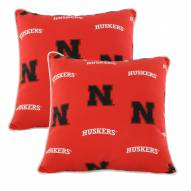 Nebraska Cornhuskers Outdoor Decorative Pillow Set