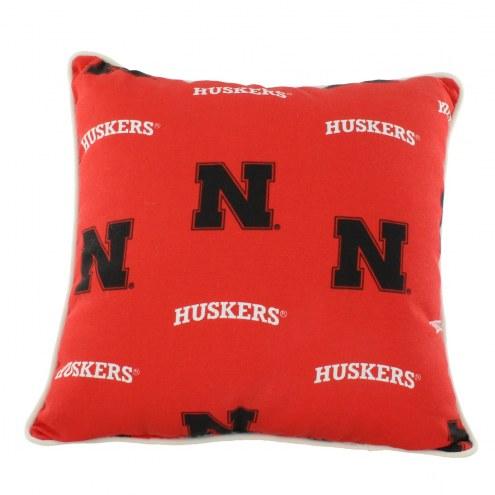 Nebraska Cornhuskers Outdoor Decorative Pillow
