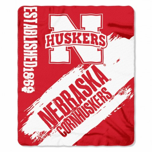 Nebraska Cornhuskers Painted Fleece Blanket