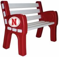 Nebraska Cornhuskers Park Bench